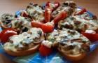 Бутерброды с боровиками