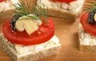 Бутерброды с грибами «Геометрические»
