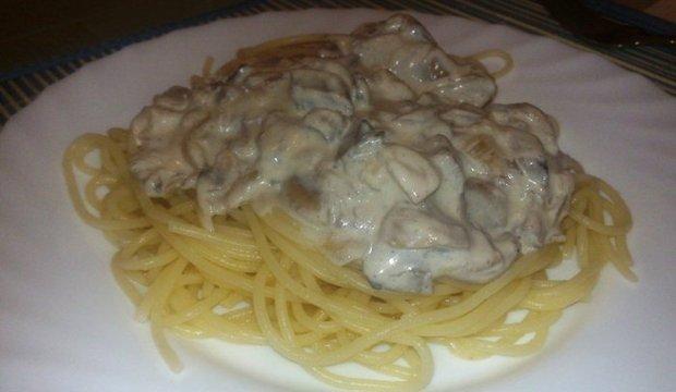 Быстрый грибной соус к спагетти