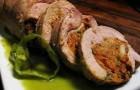 Галантин из курицы с грибами