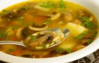 Грибной суп-рассольник