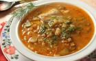 Грибной суп с пирожками (по-литовски)