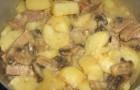 Грибы, тушенные с картофелем