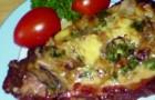 Итальянский шницель с тушеными грибами