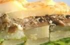 Картофельная запеканка с шампиньонами и шпротами