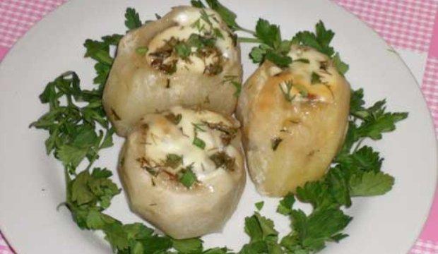 Клецки из картофеля с грибами