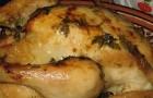 Курица, фаршированная грибами