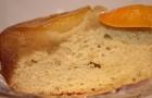 Пирог «Де флер» со сметаной и персиками