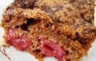 Пирог с шоколадом и вишней