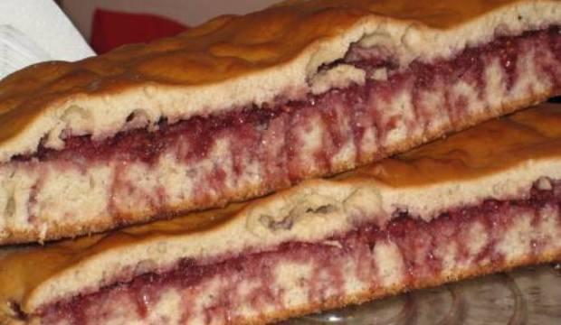 Пироги на кефире с малиной
