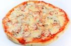 Пицца с грибами и салом