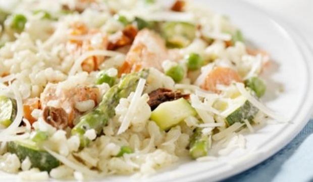 Рисовый салат с грибами