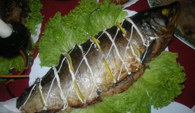 Рубленая рыба, фаршированная грибами