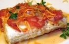 Рыба, тушенная в томатном соусе, с грибами