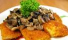 Рыба жареная с грибами