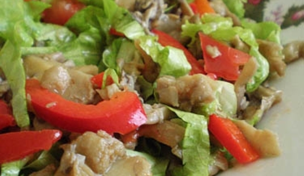 Салат из сухих грибов