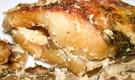 Судак, залеченный с грибами и сливками