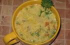 Суп грибной с зеленью