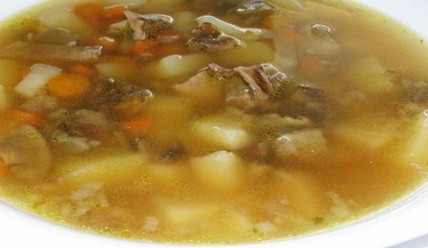Суп из белых грибов с овощами