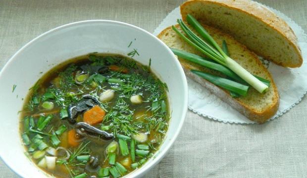 Суп из грибов с укропом