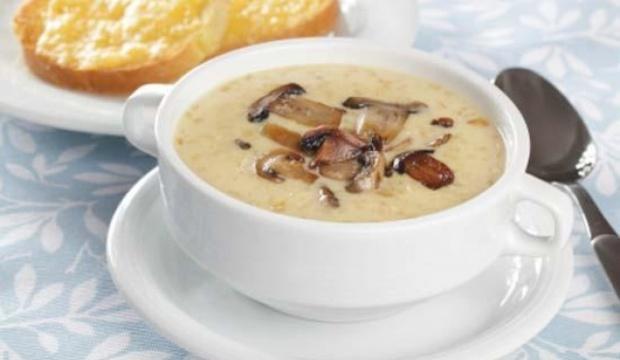 Суп из шампиньонов с макаронами и топинамбуром