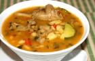 Суп из сыроежек на мясном бульоне