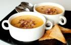 Суп-пюре гороховый с грибами