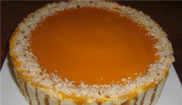 Турецкий абрикосово-апельсиновый торт