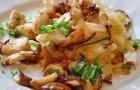 Жареные сушеные грибы