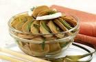 Грибной салат с зеленым луком