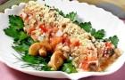 Салат грибной с сельдью
