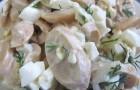 Салат грибной с соусом