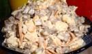 Салат из грибов и мяса цыпленка