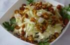Салат из опят с редькой