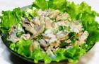 Салат из шампиньонов и мяса