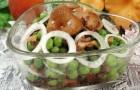 Салат из соленых или маринованных грибов