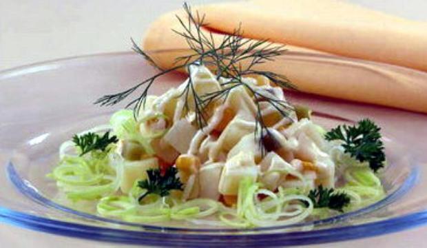 Салат с картофелем и майонезом