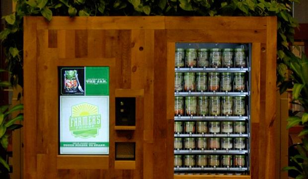 торговый автомат с овощными салатами