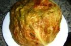 Капуста, фаршированная рисом и грибами