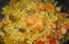 Рис холодный с апельсинами