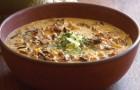 Суп грибной с рисом