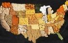Художники создают овощные карты стран