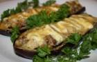 Баклажаны, фаршированные фасолью в скороварке