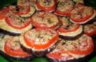 Баклажаны с помидорами и луком в скороварке