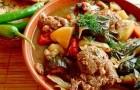 Баранина с овощами в скороварке