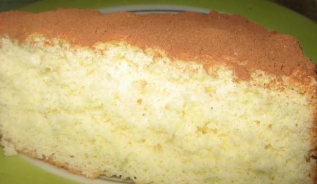 Бисквит ванильный в аэрогриле