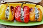 Болгарский перец, фаршированный вешенками в скороварке