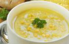 Грибной суп с кукурузой в скороварке
