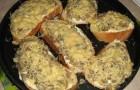 Грибы, запеченные с белым хлебом в аэрогриле