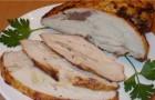 Грудка курицы, нашпигованная свиным салом в скороварке